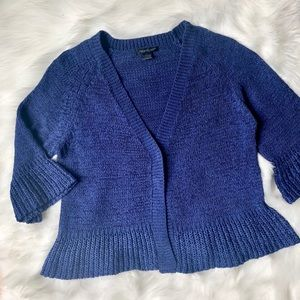 august silk Sweaters - August Silk Blue Cardigan Sweater